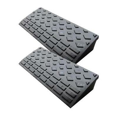 2x Rubber Ramps Kerb Cars Caravans Wheelchair Mobility 600mm x 250 x 95 - SWE421