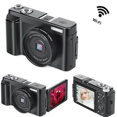 24MP Mini Digital Camera DV Camcorder 3.0'' LCD Wireless WIFI HD 1080P 16X Zoom