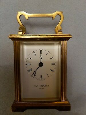 VINTAGE SOLID BRASS CARRIAGE CLOCK Wm WIDDOP FOR SPARES OR REPAIR