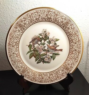 Lenox Boehm Bird Plate - 1970 Wood Thrush First In The Series