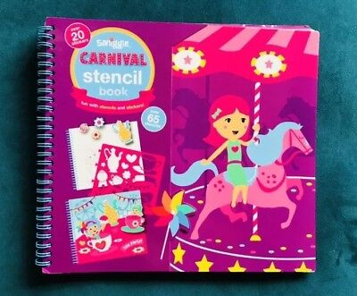 *Brand New* But Without Packaging Smiggle Carnival Stencil And Sticker Bookable