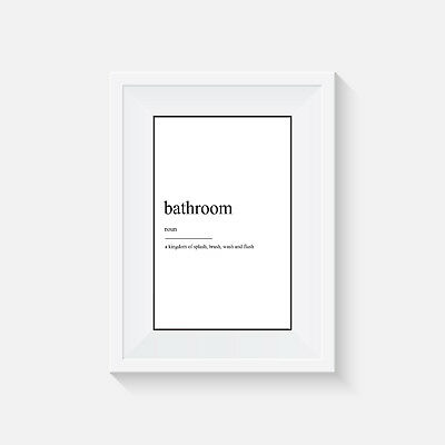 Bathroom definition, print, poster, toilet, wall art, gift, funny, home decor