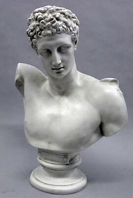 "Large Greek God Hermes bust 31"" Museum Sculpture Replica Reproduction"