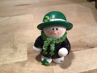 Sarah's Attic  Limited edition Snowonders  Mrs. March St. Patrick's Day figurine