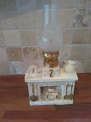 vintage style small ornamental oil lamp