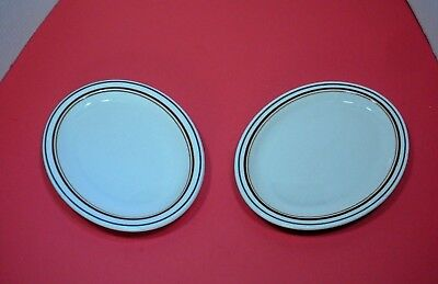 "Shenango China Oval Plates 8.5"" x 7"" Set of 2"
