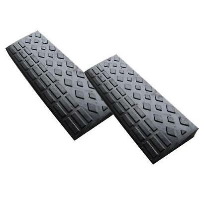 2x Rubber Ramps Kerb Cars Caravans Wheelchair Mobility 600mm x 200 x 45 - SWE420