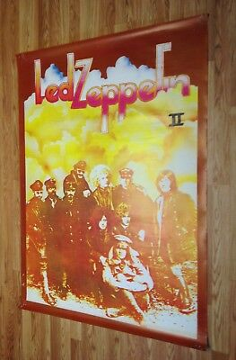 """Vintage - LED ZEPPELIN 2 Poster - Large 40"""" x 55-1/2"""" - Used - Holes in Corners"""