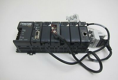 Automation Direct DL205 PLC (DL250-1 CPU, F2-4AD2DA, D2-16NA, H2-ECOM100)