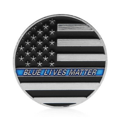 Challenge Line Lives Matter Police America's Shield Commemorative Coin H2N0R