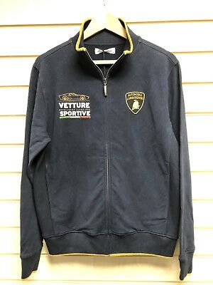 BNWT Lamborghini Men's Vetture Sportive Zip Up Sweatshirt Navy Medium