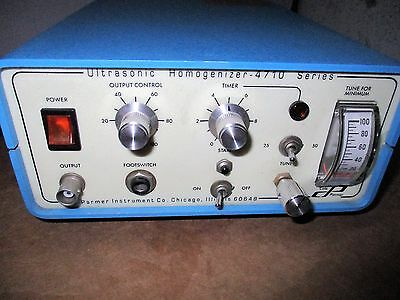 Cole Parmer Ultrasonic Homogenizer 4710 Series Model CP 50 T 120V