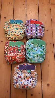 5 nursery rhymes totsbots easyfit nappies all in one birth to potty barely used