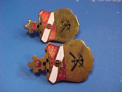 Lot WW2 US Army 21st Engineer Battalion DI DUI Pins Screw-back WWII Theater Made
