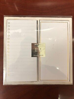 "Office Desk Top Note Paper Pads with Gold Foil Details 3"" x 6""  West Emory 2 ct."