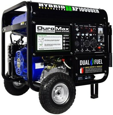 Duromax Generator 10000-Watt Hybrid Dual Fuel Electric-Recoil Start Wheel Kit