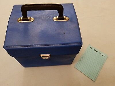 "Vintage Record Carrying/storage Case  Holds 50 Plus  7""  Ex Cond. Blue"