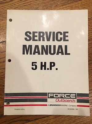 1993 Mercury Force Outboards 5 HP Service Manual 90-823263 Boat 93