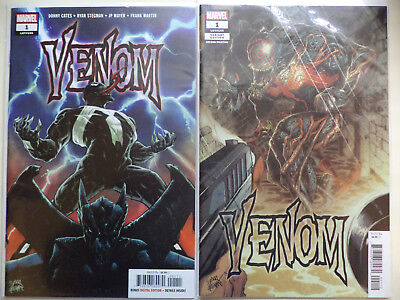 VENOM # 1 DONNY CATES RYAN STEGMAN lot 2 NM UNREAD 1st & 2nd PRINTINGS SOLD OUT