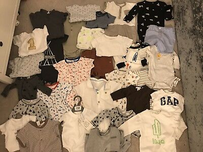 Large Baby Boy Bundle 32 Items 0-9-12 Months Next Zara H&m Mothercare Designer