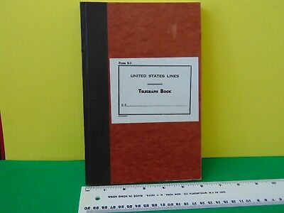 Vintage United States Lines Telegraph Book Never Used