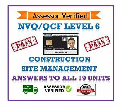 Nvqqcf Level 6 Diploma Construction Site Management All Answers 19 Units Cd Rom