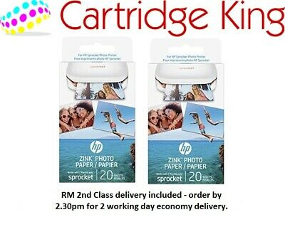 HP ZINC Sticky-Backed Photo Paper 2x3 inch 40 sheets new, 2nd class