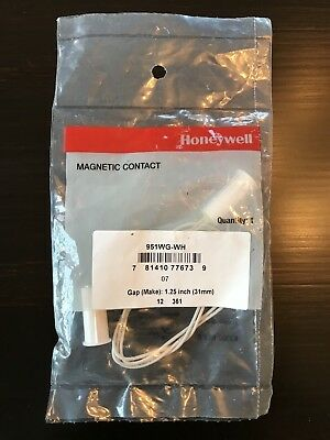"Two Brand NEW Honeywell 951WG-WH Magnetic Contact Gap 1.25""  31mm White"