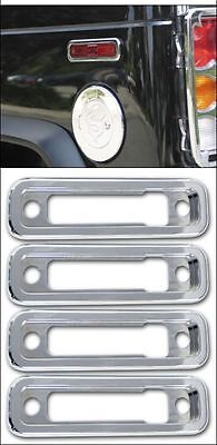 2003-2010 H2 SUV & SUT Hummer Chrome Billet Side Marker Light Bezels