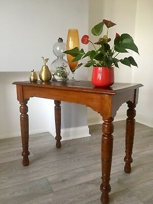 Edwardian / victorian Hall Table Mahogany writing table desk with leather top