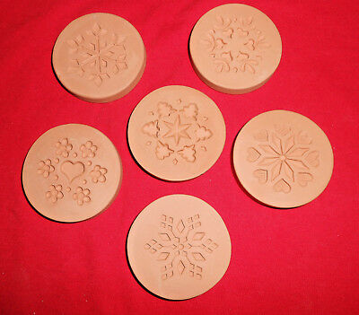 Set of 6 Different Rycraft Cookie Stamps-Snowflakes, Hearts, Etc.-New