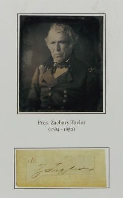 Brown Ink Autograph Of President Z. Taylor