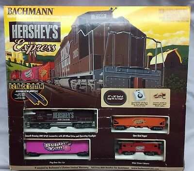 Bachmann Hershey's Express HO Scale Electric Complete Train Set E-Z Track System