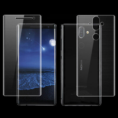 Front+Back Full Cover Screen Protector Soft Film For Nokia 8 Sirocco 7 plus Lot