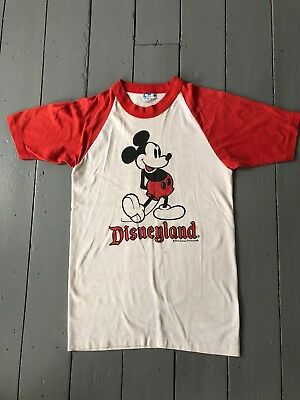 VINTAGE ORIGINAL MICKEY MOUSE DISNEYLAND BASEBALL  T SHIRT - Size small