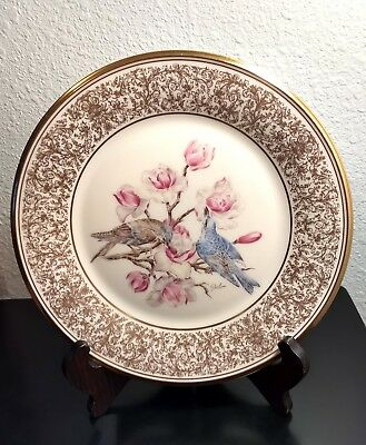 1972 Lenox Boehm Birds Annual Collectible Plate Mountain Bluebird