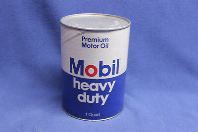 Vintage Cardboard Mobil  Heavy Duty Oil Can Quart - FULL
