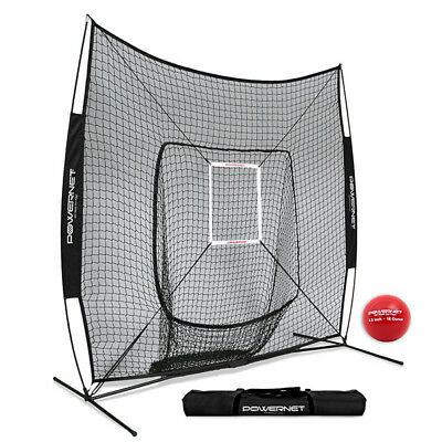 New PowerNet DLX Baseball Net, baseball softball training net, portable net, 7x7