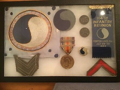 Ww1 Us Army 114Th Infantry,29Th Division Original Grouping