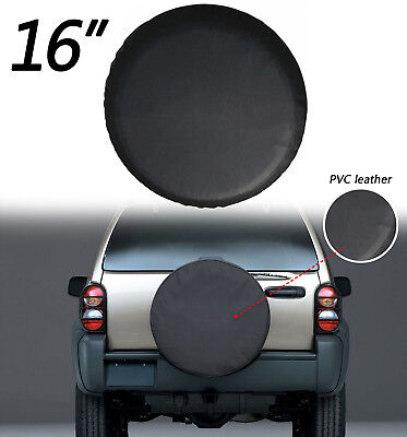"16""  Black Car Spare Tire Tyre Wheel Cover For Jeep Liberty Wrangler"