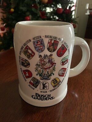 Busch Gardens Ceramic Beer Mug Stein Reutter, Made in Germany