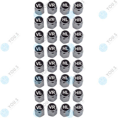 8 Sets YOU.S Aluminum Valve Caps+Gasket Wheel Markers Tyre Changing Car Vehicle
