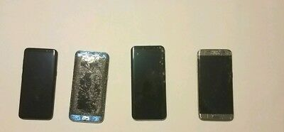 Lot of 4 Samsung Galaxy S7 Edge Phones - For Parts/Not Working