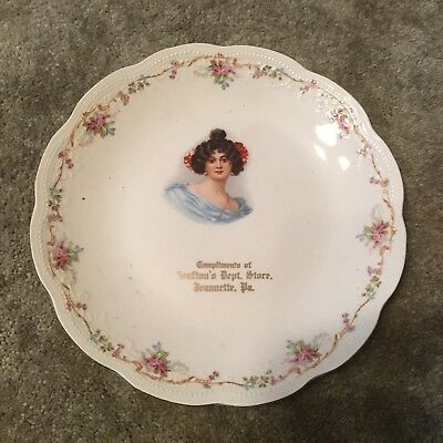 Vintage Advertising Plate - Compliments of Grafton's Dept Store, Jeanette, PA