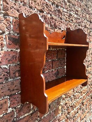 VICTORIAN MAHOGANY ARTS AND CRAFTS WALL SHELF RACK BOOK RACK KITCHEN Liberty Sty