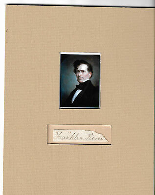 Brown Ink Autograph Of President Franklin Pierce