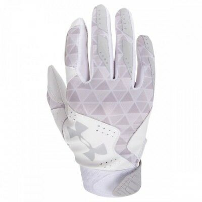 Under Armour Radar Womens Batting Gloves 1299550 - WH/AL - M