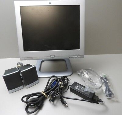 "HP Pavilion F1503 LCD Monitor 15"" and Speakers"