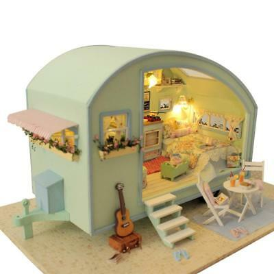 CUTEROOM Doll House Furniture DIY 3D Wooden Miniature Time Travel Children Toys#