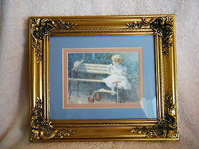 """Print by   Richard Judson Zolan """"The Antique Doll"""" Beautifully Framed"""